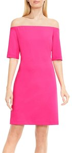 Vince Camuto Off-the-shoulder Sheath Electric Short Sleeves Dress