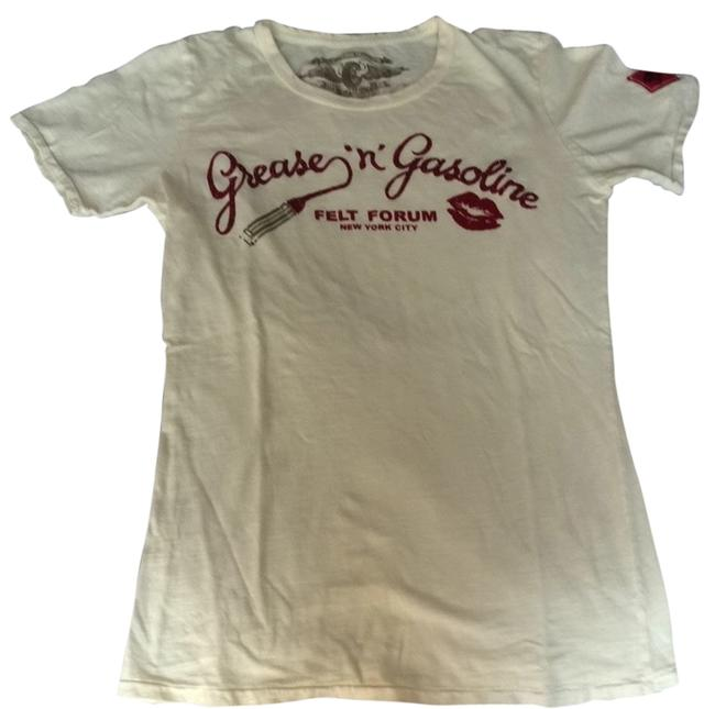 Preload https://item4.tradesy.com/images/cream-grease-n-gasoline-tee-shirt-size-12-l-2292533-0-0.jpg?width=400&height=650