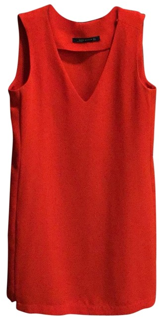 Item - Red Orange Woman Short Casual Dress Size 4 (S)