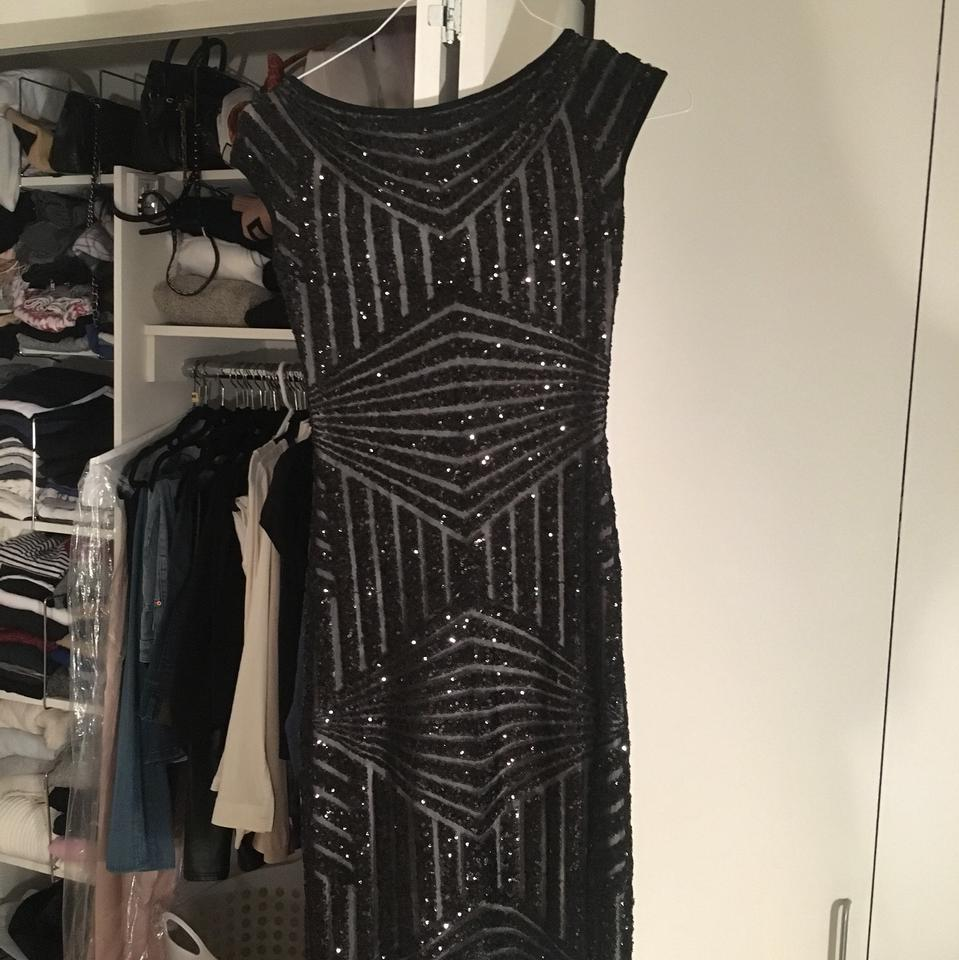 b11914a3fe Plein Sud Black Sequin Bodycon Mid-length Night Out Dress Size 4 (S ...