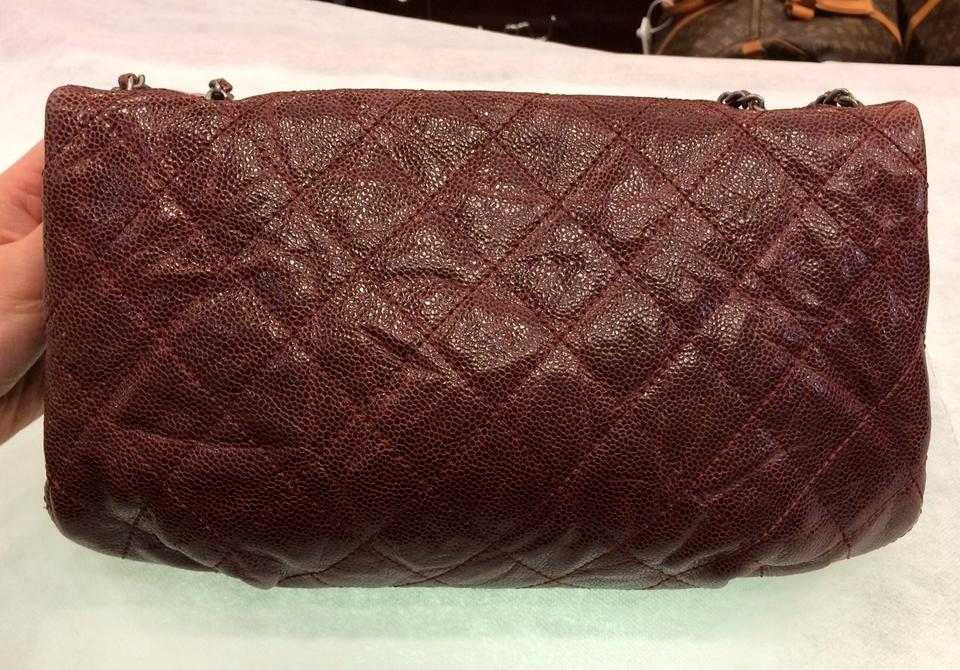 1a35e88ef56f Chanel Classic Flap Medium Rustic Crinkle Elastic Quilted Glazed ...