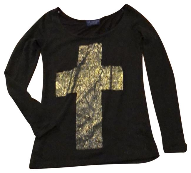 Item - Black with Gold Cross Tee Tunic Size 4 (S)