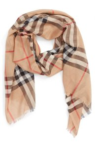 Burberry Burberry Giant Check Wool Silk Scarf Shawl