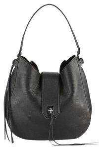 Rebecca Minkoff Leather Grained Crossbody Unlined Hobo Bag