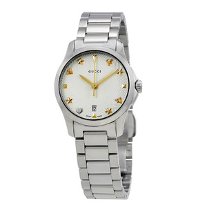 85adae1ded7 Gucci Swiss G-Timeless Silver Dial Stainless Steel Bracelet Ladies Watch