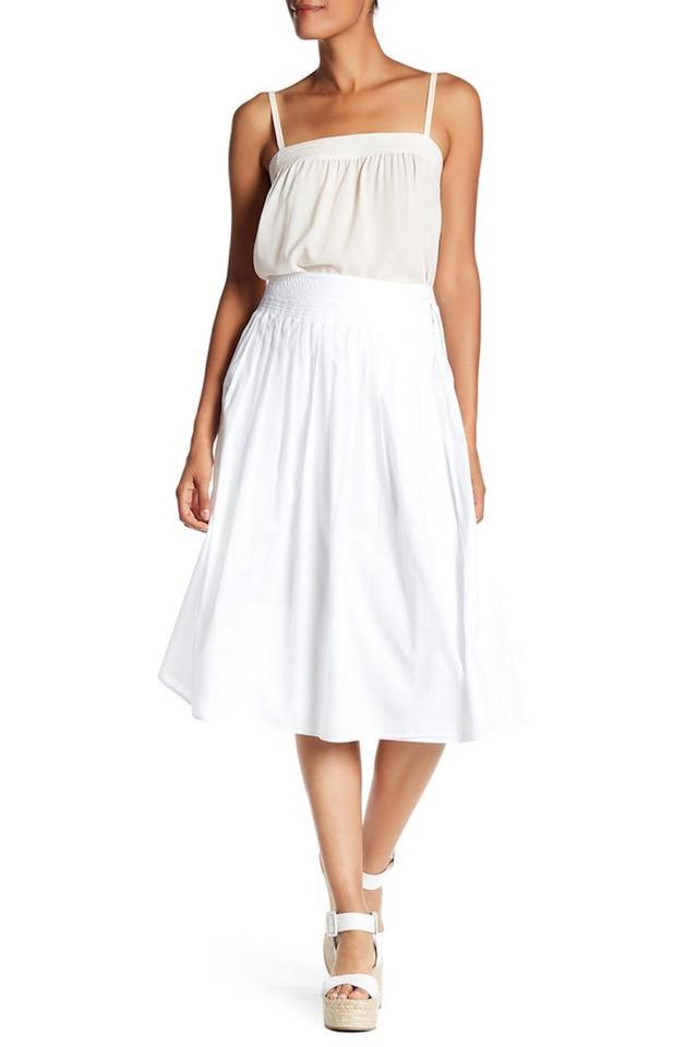dc131894a5 Vince White Off/Blue Vx58330381 Stitch Pleated Wrap Skirt Size 12 (L ...