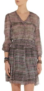 Isabel Marant Printed Silk Chiffon Boho Bohemian Dress