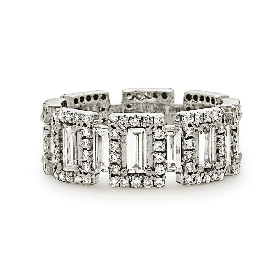 pave bands platinum shared eternity ct wb white gold round diamond in band prong