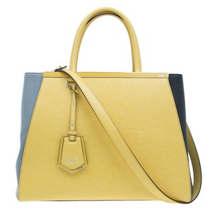 Fendi 2jours Leather Tote in yellow