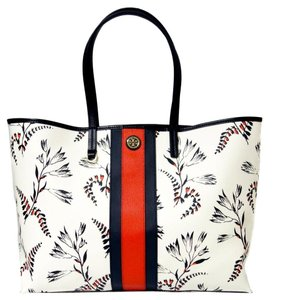 Tory Burch Spring Summer Nautical Tote in Floral