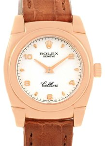 Rolex Rolex Cellini Cestello Rose Gold White Dial Ladies Watch 5310