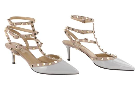 Valentino Stud Heels Sandals Rock Stud Sandals Heels Gucci Grey Pumps Image 1