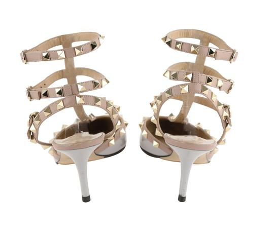 Valentino Stud Heels Sandals Rock Stud Sandals Heels Gucci Grey Pumps Image 3