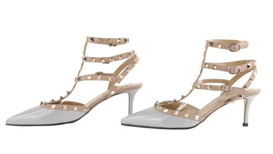 Valentino Stud Heels Sandals Rock Stud Sandals Heels Gucci Grey Pumps Image 4
