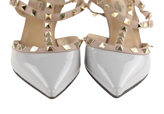 Valentino Stud Heels Sandals Rock Stud Sandals Heels Gucci Grey Pumps Image 5