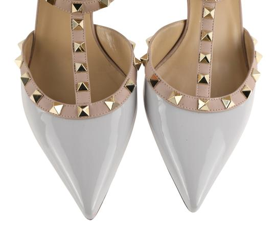 Valentino Stud Heels Sandals Rock Stud Sandals Heels Gucci Grey Pumps Image 6