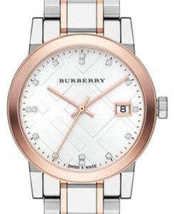 Burberry Silver and Rose Gold Women's Watch: Bu9127