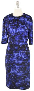 Betsey Johnson Dark Floral 3/4 Sleeve Fitted Dress