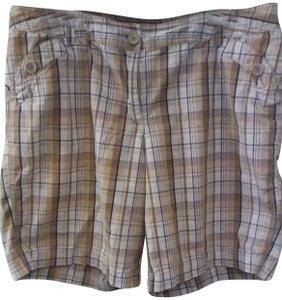 91efa89eac Just My Size Bermuda Shorts Tan plaid