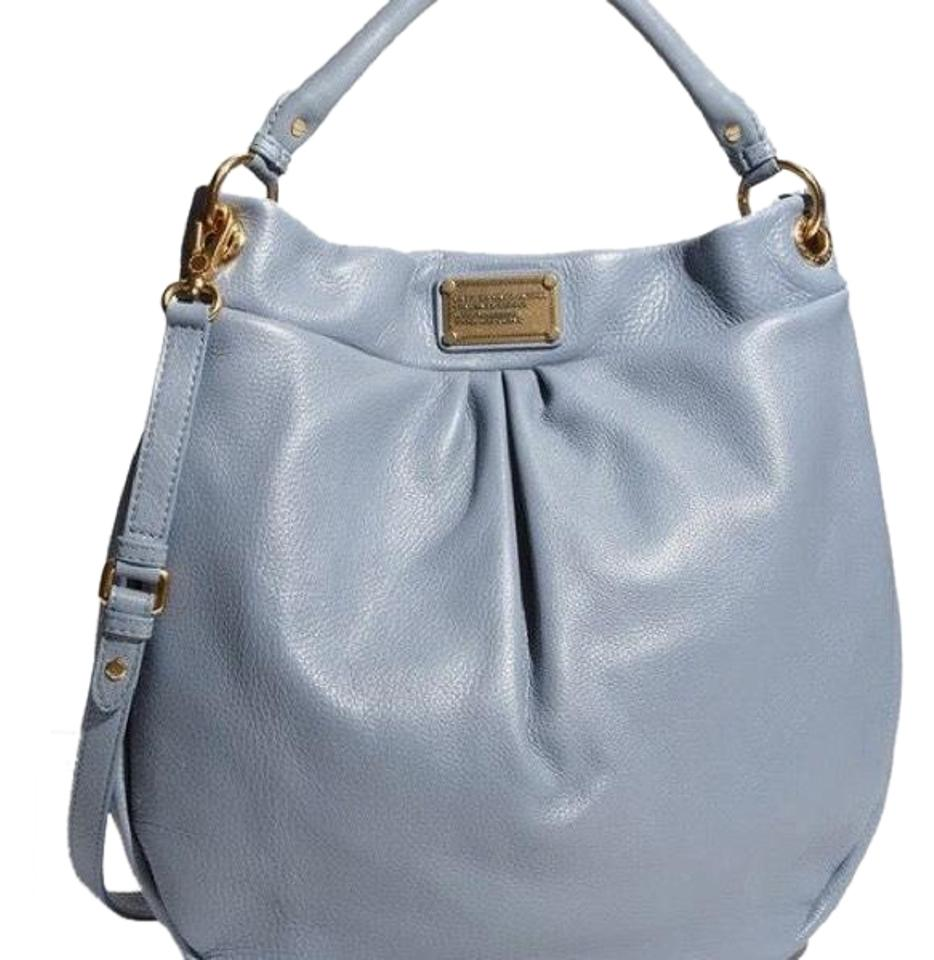 08f6227957f Marc by Marc Jacobs Classic Q Huge Hillier Blue/Grey Leather Hobo ...