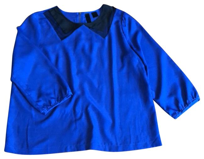 Item - Blue with Black Modern Tunic Size 4 (S)