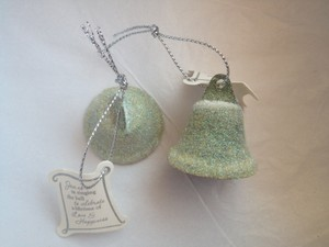 45 Green Wedding Bell Favors