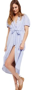 Free People Gingham Retro Maxi Tunic