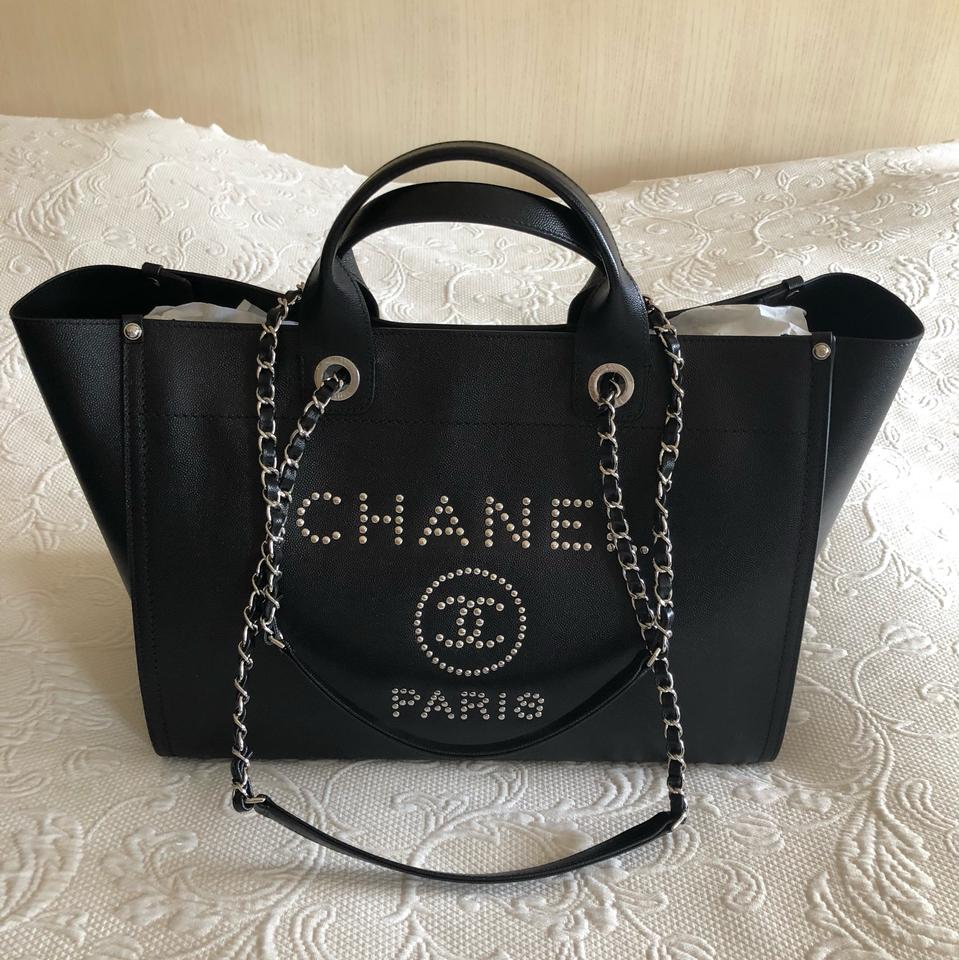 Chanel Deauville Stud 2018 Tote In Black