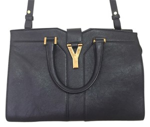 YSL Satchel in Marine