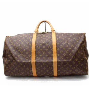 Louis Vuitton Keepall 60 Keepall Duffle Monogram Keepall Keepall Keepall  Bandouliere Brown Travel Bag 118d421de1d35