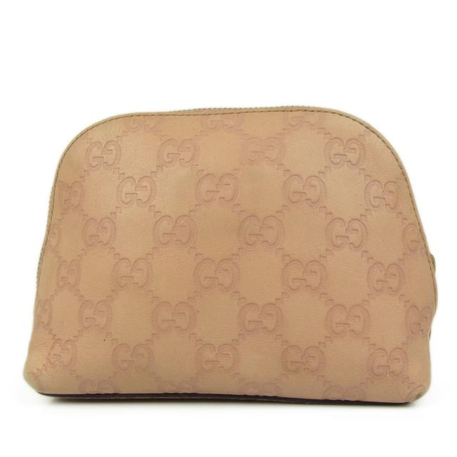 Item - Pink/Sand Pouch Gg ssima Leather Mini Cosmetic Bag