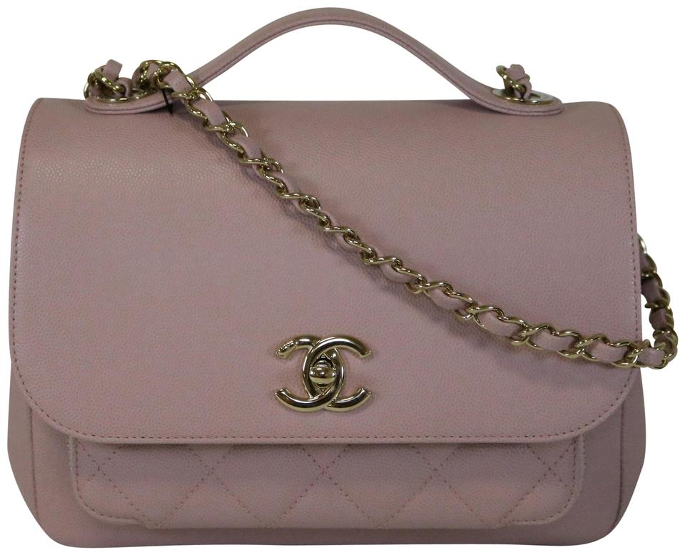 1c6f6014fd72 Chanel Business Affinity Flap Caviar Pink Leather Cross Body Bag ...