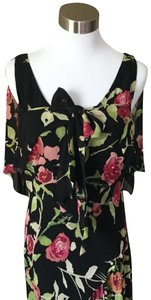 Black & Pink Maxi Dress by Nicole Miller