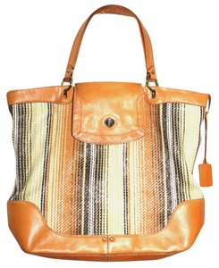 Cole Haan Leather Trim Nylon Tote in Multicolor