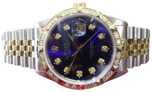 Rolex Mens ROLEX Oyster Perpetual Datejust Diamonds watch