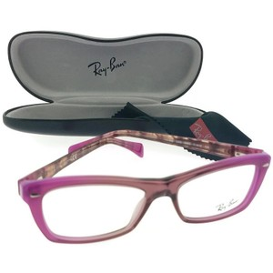 Ray-Ban RX5255-5489 Rectangle Women's Pink Frame Clear Lens Eyeglasses