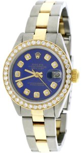 Rolex Datejust Ladies 2-Tone 26MM Oyster w/Blue Diamond Dial & Bezel