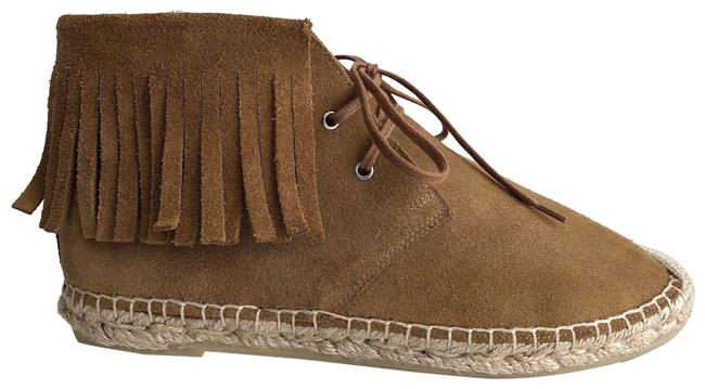 Item - Tan Ysl Suede Fringe Flat Moccasin Boots/Booties Size EU 37 (Approx. US 7) Regular (M, B)