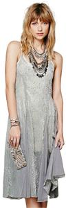 Free People Sleeveless Sheer Jacquard Velvet Dress