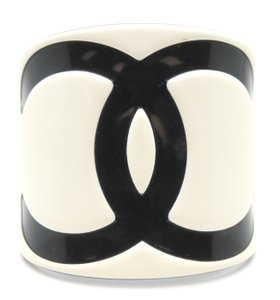 Chanel Large Extra Wide CC Cuff Bracelet Bangle