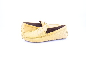 Gucci * Yellow Diamante Leather Driver Shoes
