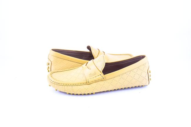 Item - * Yellow Diamante Leather Driver Shoes