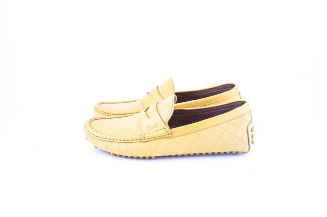 Gucci * Yellow Diamante Leather Driver Shoes Gucci * Yellow Diamante Leather Driver Shoes Image 3