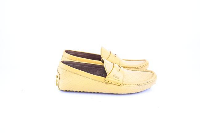 Gucci * Yellow Diamante Leather Driver Shoes Gucci * Yellow Diamante Leather Driver Shoes Image 4