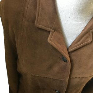 Timberland Suede Winter Warm Easy Brown Leather Jacket