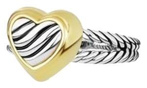 David Yurman Cable Heart Ring with Gold