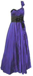 DENICELY MENDEZ One Soutache Embellished Evening Ballgown S Dress