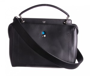 Fendi Dotcom Medium Satchel in Black/Blue