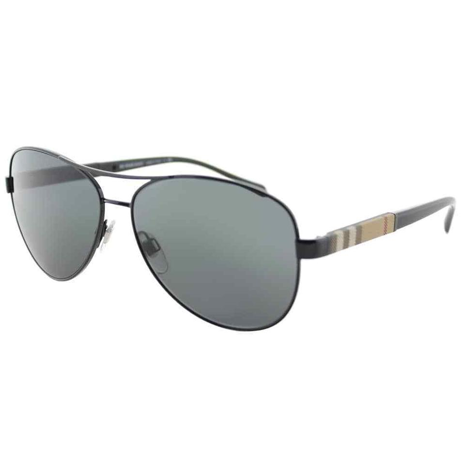 0ec12005c Burberry Black/Signature Plaid Be3080 1003/8g Fashion New Sunglasses ...