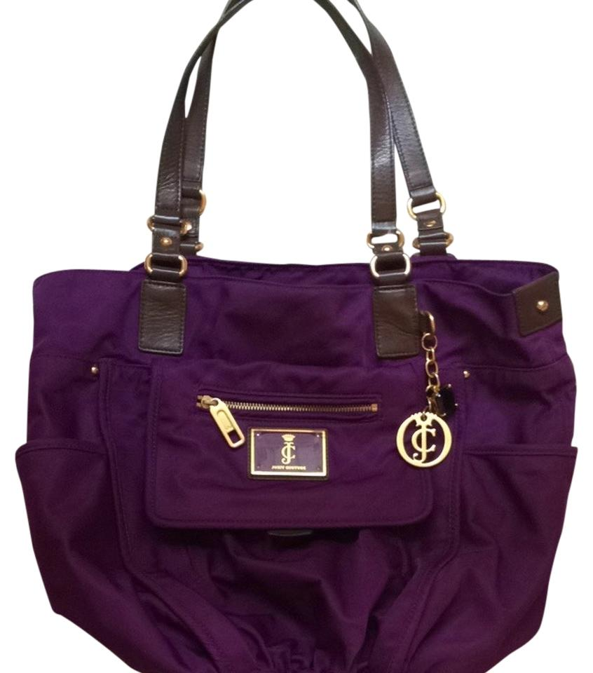 juicy couture elizabeth nylon purple tote bag on sale 61 off totes on sale. Black Bedroom Furniture Sets. Home Design Ideas